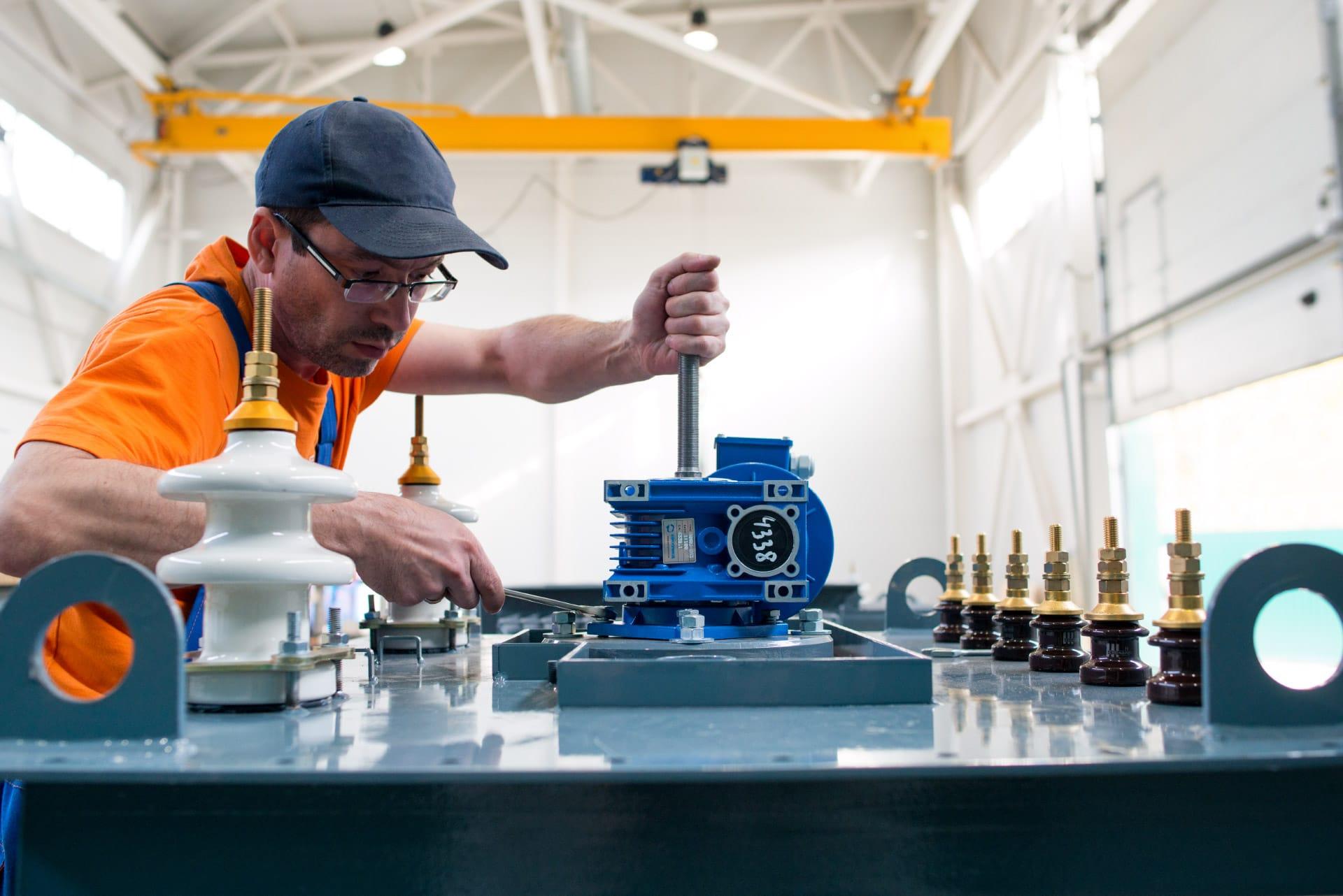 Ensons - Установка двигателя узла регулировки