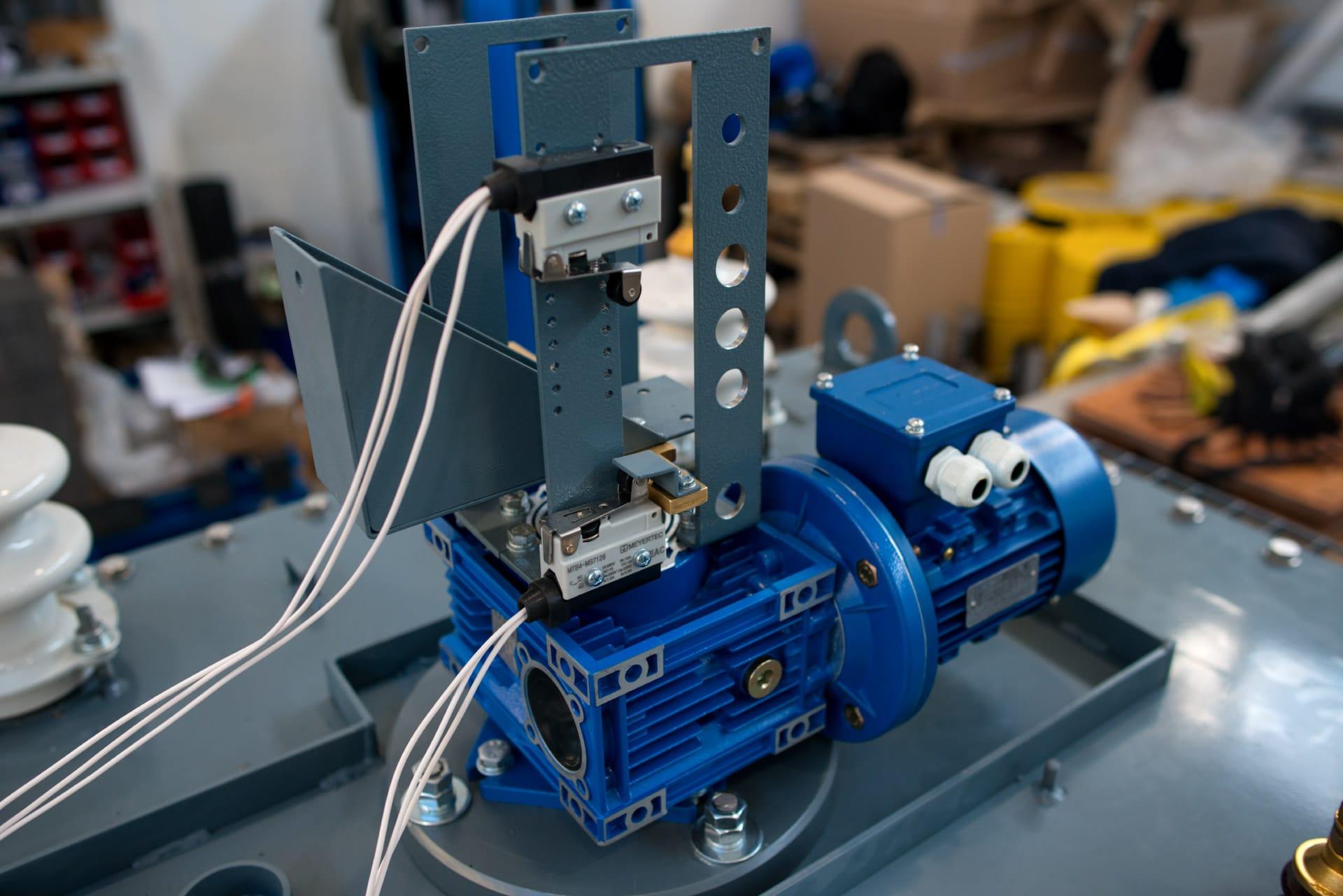 Ensons - Двигатель реактора с датчиками