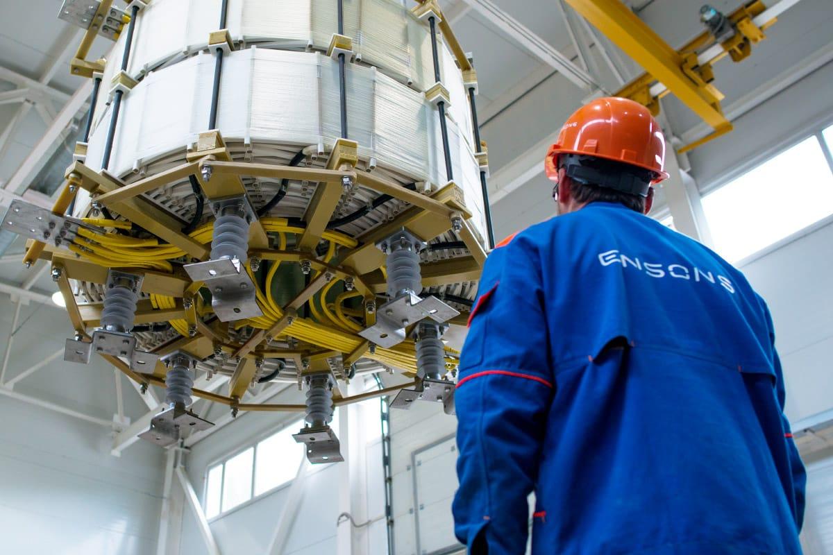 Ensons - Производство сухих сдвоенных токоограничивающих реакторов для «Пермэнерго» ПС «Содовая-3»