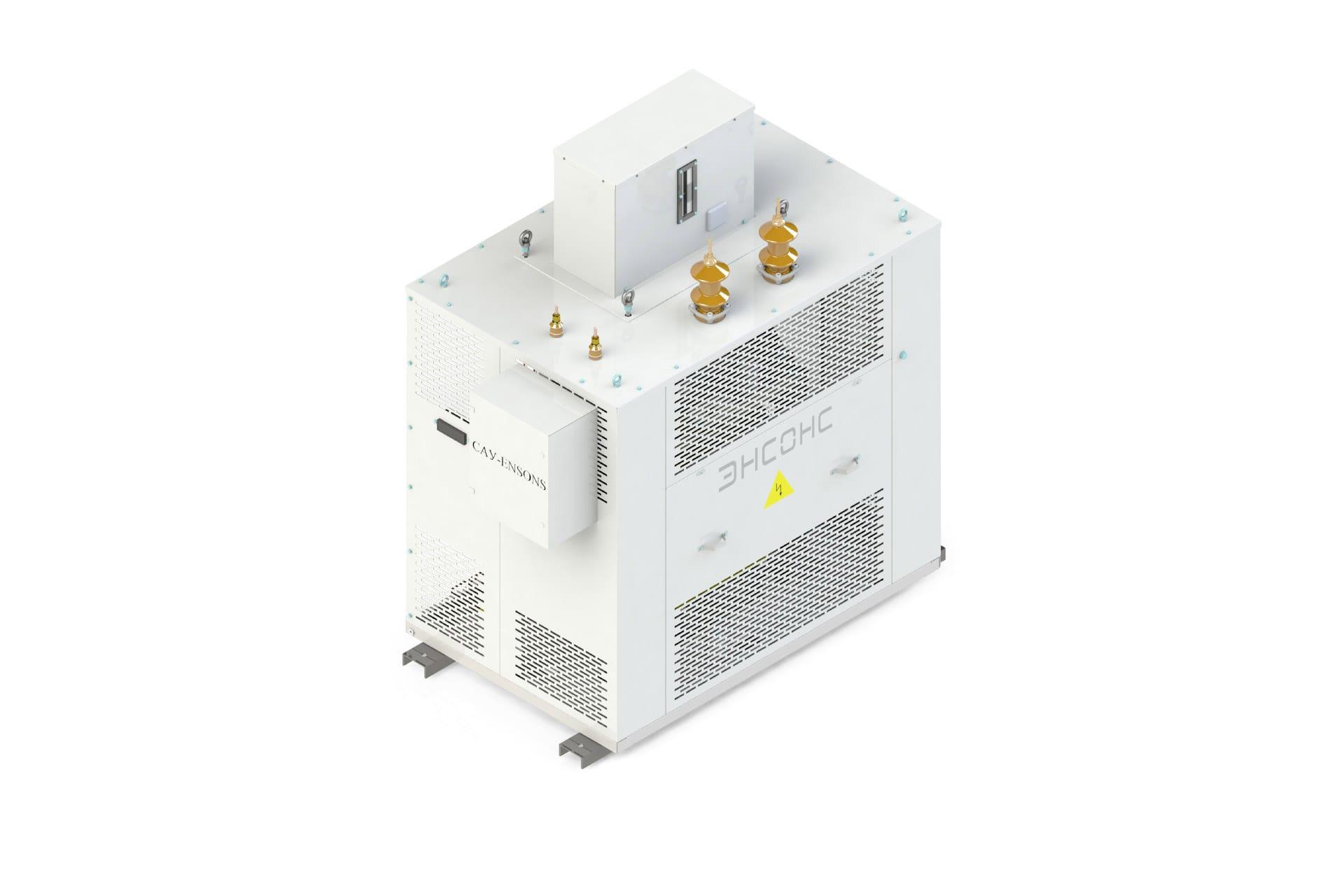 Ensons - Общий вид сухого дугогасящего реактора РЗДПОС (конструкторский рендер)