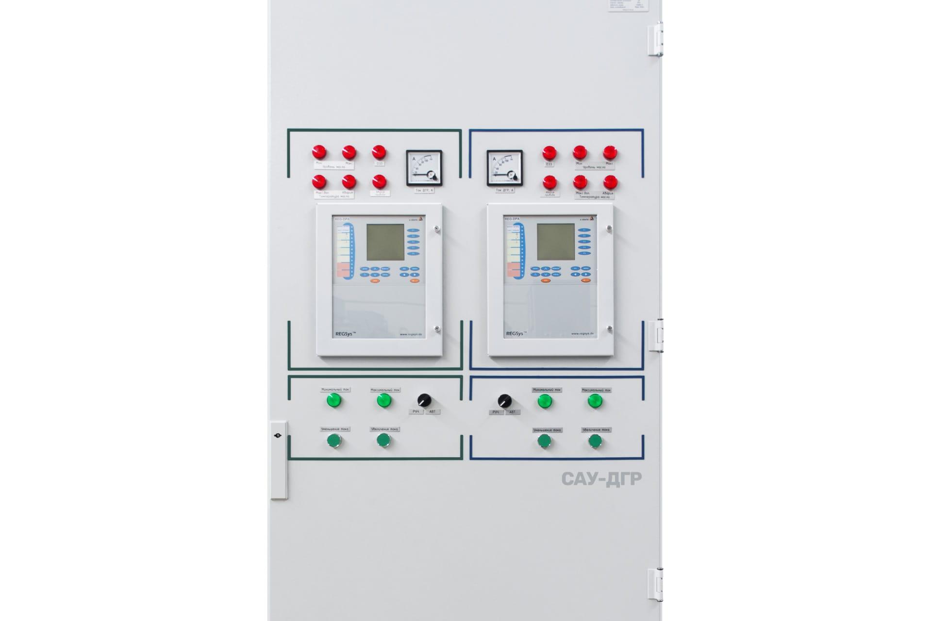 Ensons - 2 модуля REG-DPA в панели шкафа управления ЭНСОНС