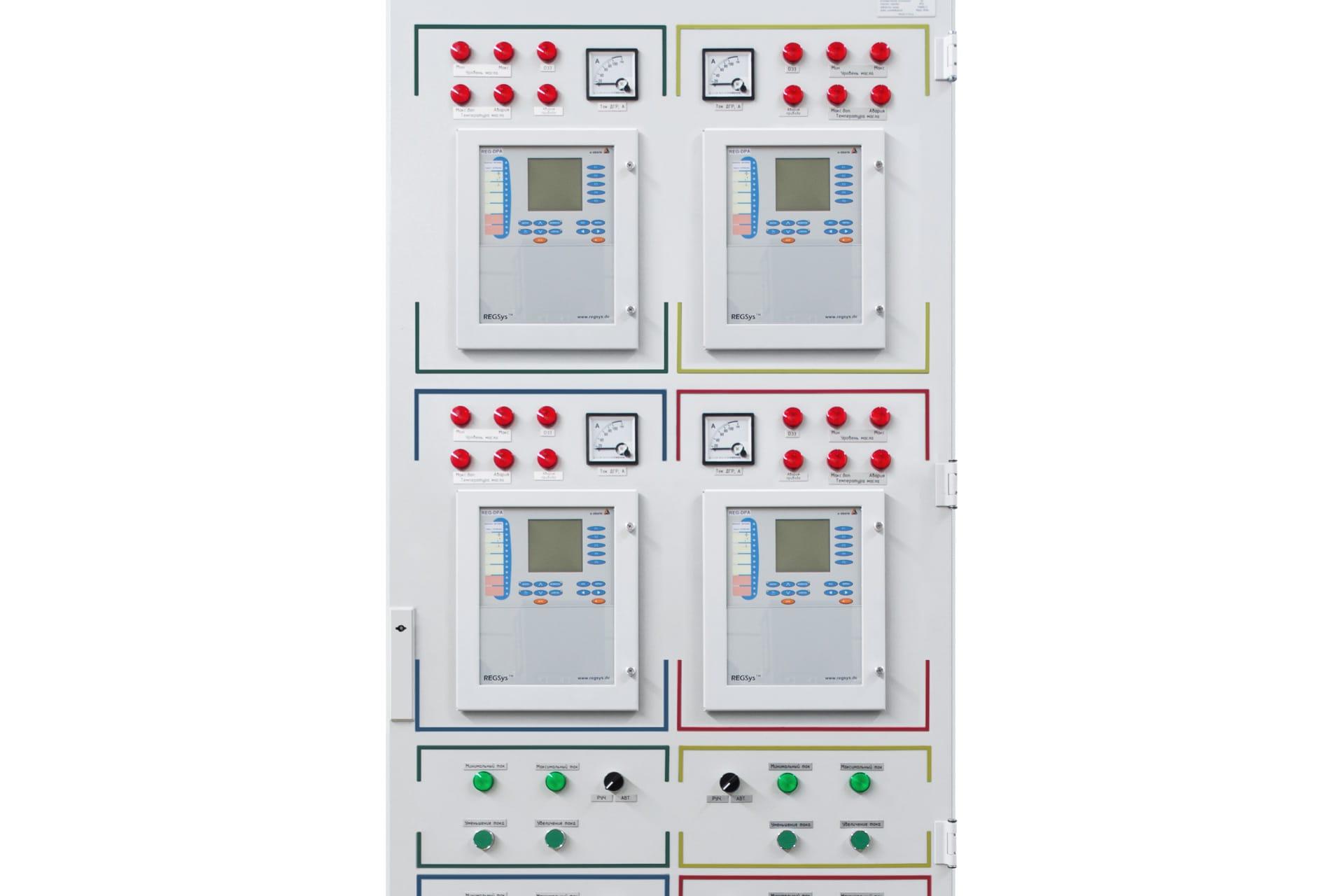 Ensons - 4 модуля REG-DPA в панели шкафа управления ЭНСОНС