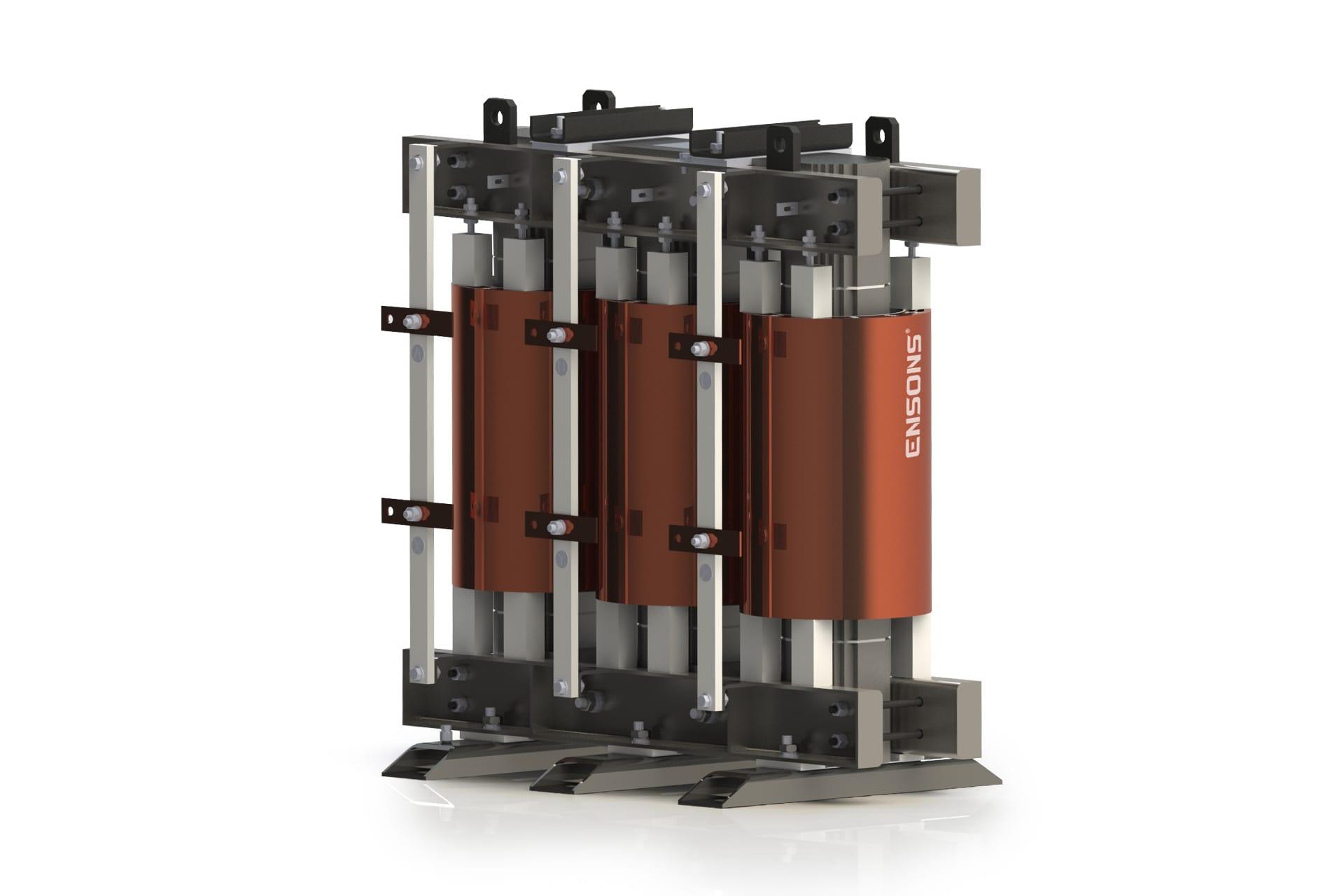 Ensons - Конструкторский рендер сухого фильтрового реактора ФРТС 6(10) кВ